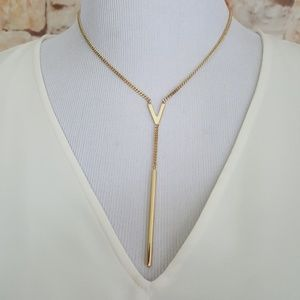 New Vince Camuto Logo Lariat Necklace